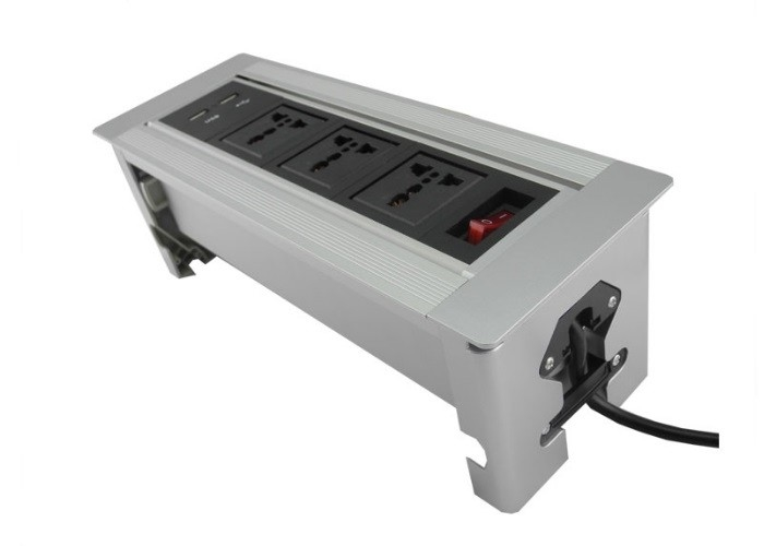 Max 250v Flip Up Sockets , OEM Tabletop Power Socket Self - Lock Function