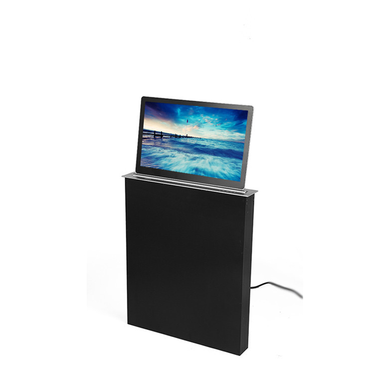 Conference Room Office Table LCD Monitor Lifting Mechanism Implicit LED Screen Display