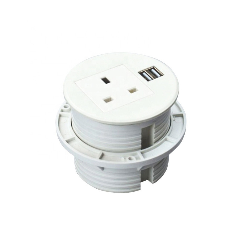 ABS Material Conference Table Desktop Electrical Power Socket / Round Power Outlet